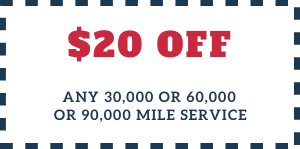 20off Any 30 60 90 Thousand Mile Service 1